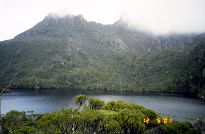 Cradle mountain in the fog